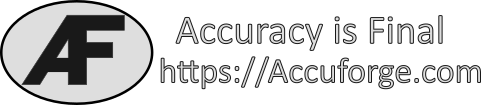 https://accuforge.com Accuracy is Final