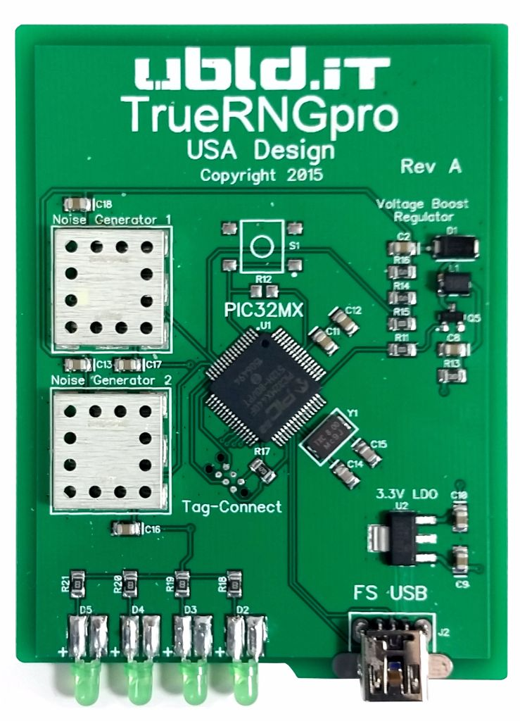 Picture of TrueRNGpro PCB